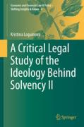 Cover of A Critical Legal Study of the Ideology Behind Solvency II