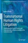 Cover of Transnational Human Rights Litigation: Challenging the Death Penalty and Criminalization of Homosexuality in the Commonwealth