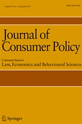 Cover of Journal of Consumer Policy: Consumer Issues in Law, Economics and Behavioural Sciences - Print + Basic Online