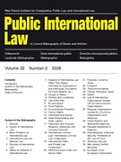 Cover of Public International Law: A Current Bibliography of Books and Articles - Print Only