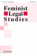 Cover of Feminist Legal Studies: Print + Basic Online