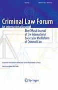 Cover of Criminal Law Forum: An International Journal - Print + Basic Online