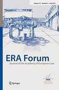 Cover of ERA Forum: Journal of the Academy of European Law - Print + Basic Online
