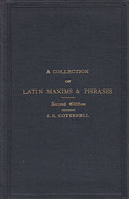 Cover of A Collection of Latin Maxims & Phrases