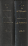 Cover of Coote on Mortgages 9th ed