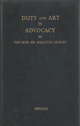 Cover of Duty and Art in Advocacy