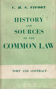 Cover of History and Sources of the Common Law: Tort and Contract