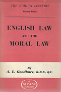 Cover of The Hamlyn Lectures: English Law and the Moral Law