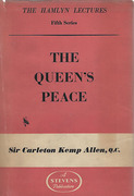 Cover of The Hamlyn Lectures: The Queen's Peace