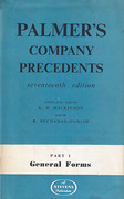 Cover of Palmer's Company Precedents 17th ed Part 1: General Forms
