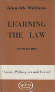 Cover of Learning the Law 6th ed