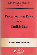 Cover of The Hamlyn Lectures: Protection from Power under English Law
