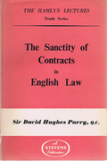Cover of The Hamlyn Lectures: The Sanctity of Contracts in English Law