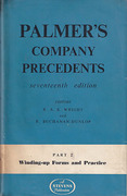 Cover of Palmers Company Precedents 17th ed: Part 2, Winding Up Forms and Practice