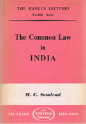 Cover of The Hamlyn Lectures: The Common Law in India