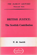 Cover of The Hamlyn Lectures: British Justice: The Scottish Contribution