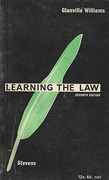 Cover of Learning the Law 7th ed