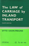 Cover of The Law of Carriage by Inland Transport