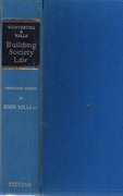 Cover of Wurtzburg & Mills on Building Society Law 13th ed