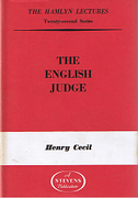 Cover of The Hamlyn Lectures: The English Judge