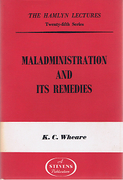 Cover of The Hamlyn Lectures: Maladministration and Its Remedies