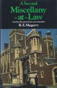 Cover of A Second Miscellany-at-Law: A Further Diversion for Lawyers and Others