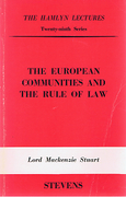 Cover of The Hamlyn Lectures: The European Communities and the Rule of Law