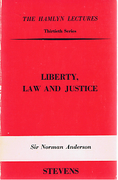 Cover of The Hamlyn Lectures: Liberty, Law and Justice