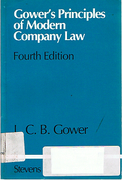 Cover of Gower's Principles of Morden Company Law 4th ed with 1981 Supplement