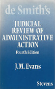 Cover of De Smith's Judicial Review of Administrative Action 4th ed