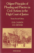 Cover of Odgers on High Court Pleading and Practice 22nd ed