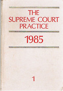 Cover of The Supreme Court Practice 1985 (The White Book)