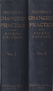 Cover of Daniell's Chancery Practice 8th ed