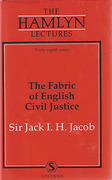 Cover of The Hamlyn Lectures: The Fabric of English Civil Justice