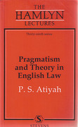 Cover of The Hamlyn Lectures: Pragmatism and Theory in English Law