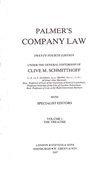 Cover of Palmer's Company Law 24th ed: Volume 1 - The Teatise