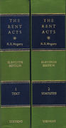 Cover of The Rent Acts 11th ed Volumes 1 & 2: Text & Statutes: