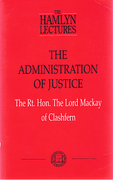 Cover of The Hamlyn Lectures: The Administration of Justice