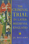 Cover of The Criminal Trial in Later Medieval England