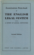 Cover of Examination Note-book of The English Legal System