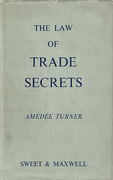 Cover of The Law of Trade Secrets