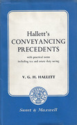 Cover of Hallett's Conveyancing Precedents: With Practical Notes Including Tax and Estate Duty Saving