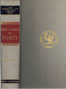 Cover of Clerk & Lindsell on Torts 14th ed