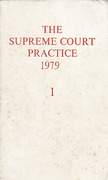 Cover of The Supreme Court Practice 1979 (The White Book) Volume 1 only