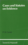Cover of Cases and Statutes on Evidence