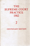 Cover of The Supreme Court Practice 1982 (The White Book): Centenary Edition