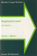Cover of Registered Land