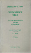 Cover of Chitty & Jacob's Queen's Bench Forms 21st ed: 2nd Supplement