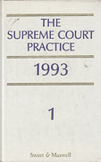 Cover of The Supreme Court Practice 1993 (The White Book )