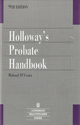Cover of Holloway's Probate Handbook 9th ed